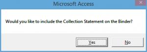 Collections statement Binder