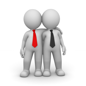 3D Character is Businessman - These business men are partner and co-worker