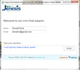 Jenesis Live Support Chat Login